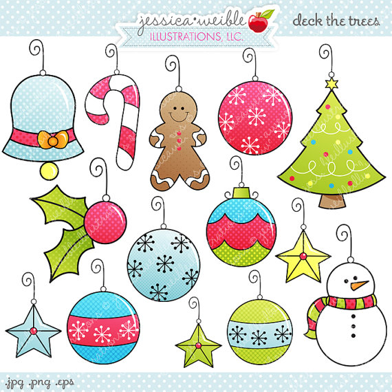 Cute Christmas Ornament Clipart #1