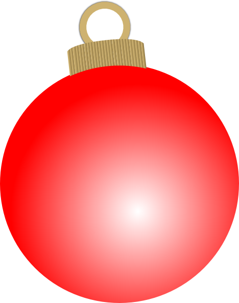 Red Christmas Ornament Clipart #1