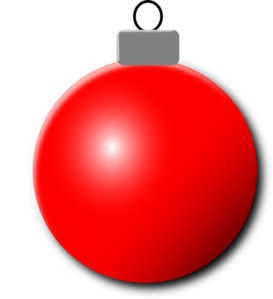 Red Christmas Ornament Clipart