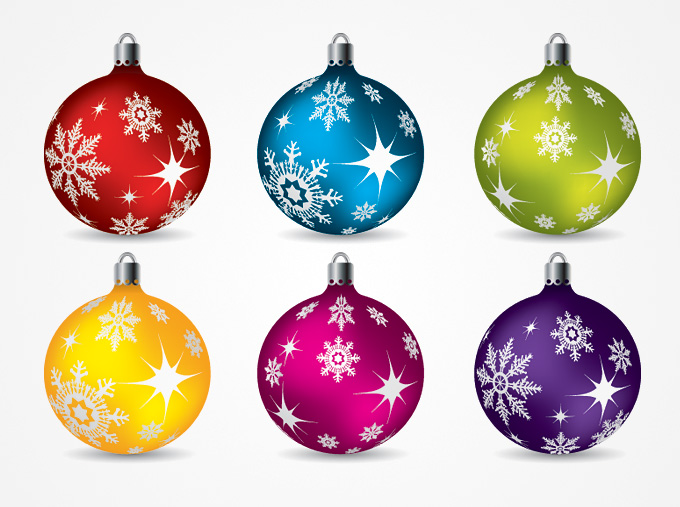 Christmas Ornaments Clipart .