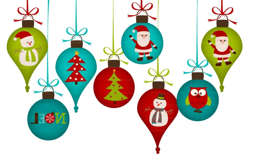 14 Christmas Ornament Clip Art Clipartlook