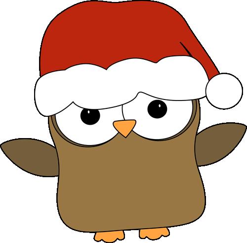 Christmas Owl. Christmas Owl Clip Art ...