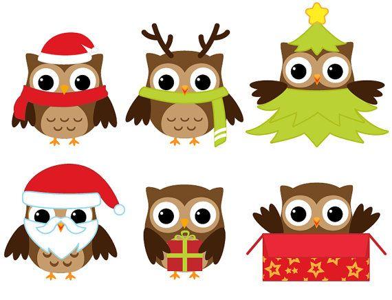 Christmas Owl Clip Art Kids Room Pinterest