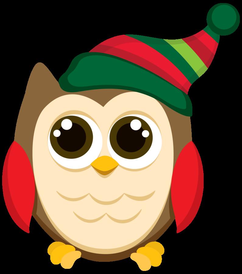 CHRISTMAS OWL CLIP ART Mais
