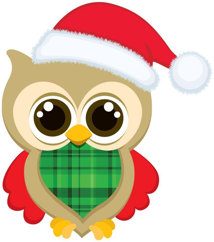 CHRISTMAS OWL CLIP ART soo cute right