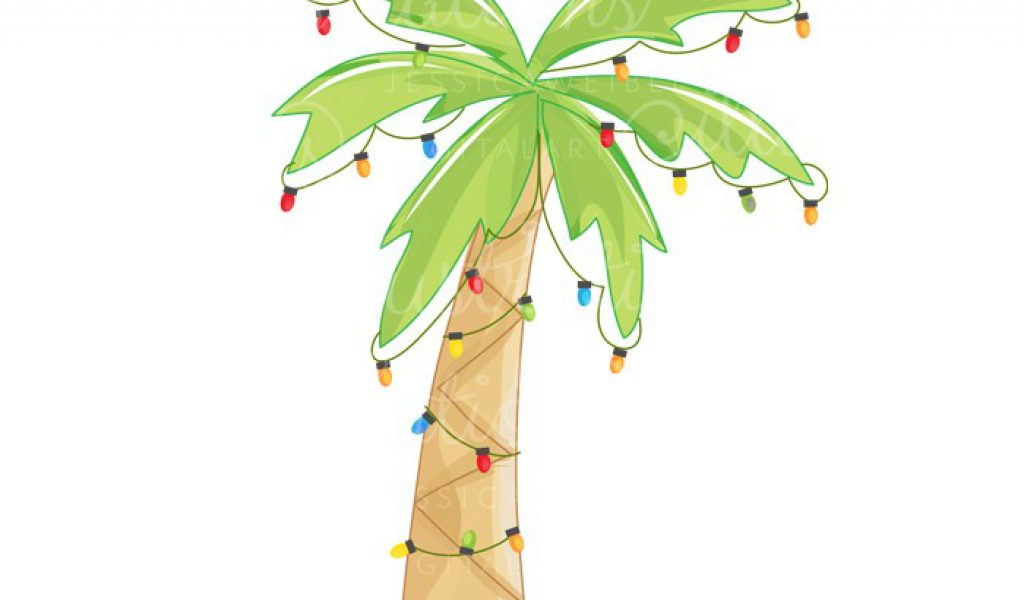 christmas palm tree clip art .