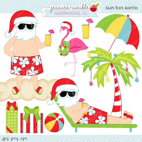 Christmas Palm Tree Clip Art