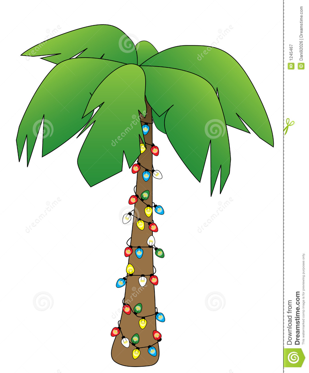 Christmas Palm Tree Clipart #1