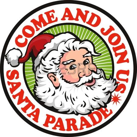 christmas parade: Retro style illustration of santa claus saint nicholas father christmas on isolated white