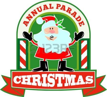 Christmas Parade: Retro Style Illustrati-christmas parade: Retro style illustration of santa claus saint nicholas father christmas standing with candy-4