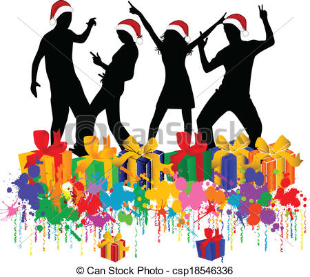 Christmas Party Free Clip Art. Christmas Party - csp18546336