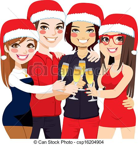 Christmas Party Friends Toast Csp1620490-Christmas Party Friends Toast Csp16204904-6