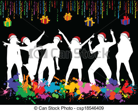 Christmas Party Vector Clipartby ...-Christmas Party Vector Clipartby ...-8