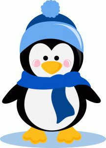 Christmas Penguin Clipart - .