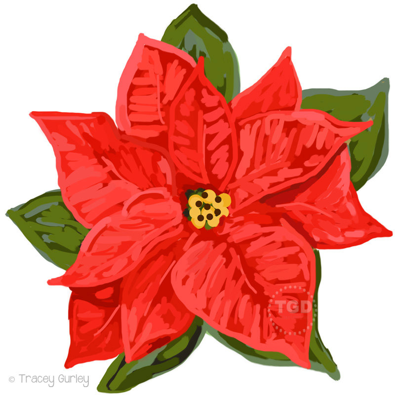 Christmas Poinsettia Clip Art ...