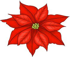 Christmas Poinsettia Clipart