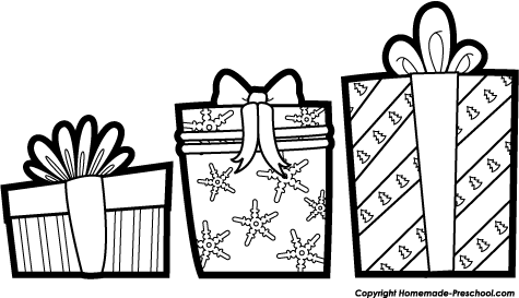 Christmas Presents Clip Art Black And White 1 Png