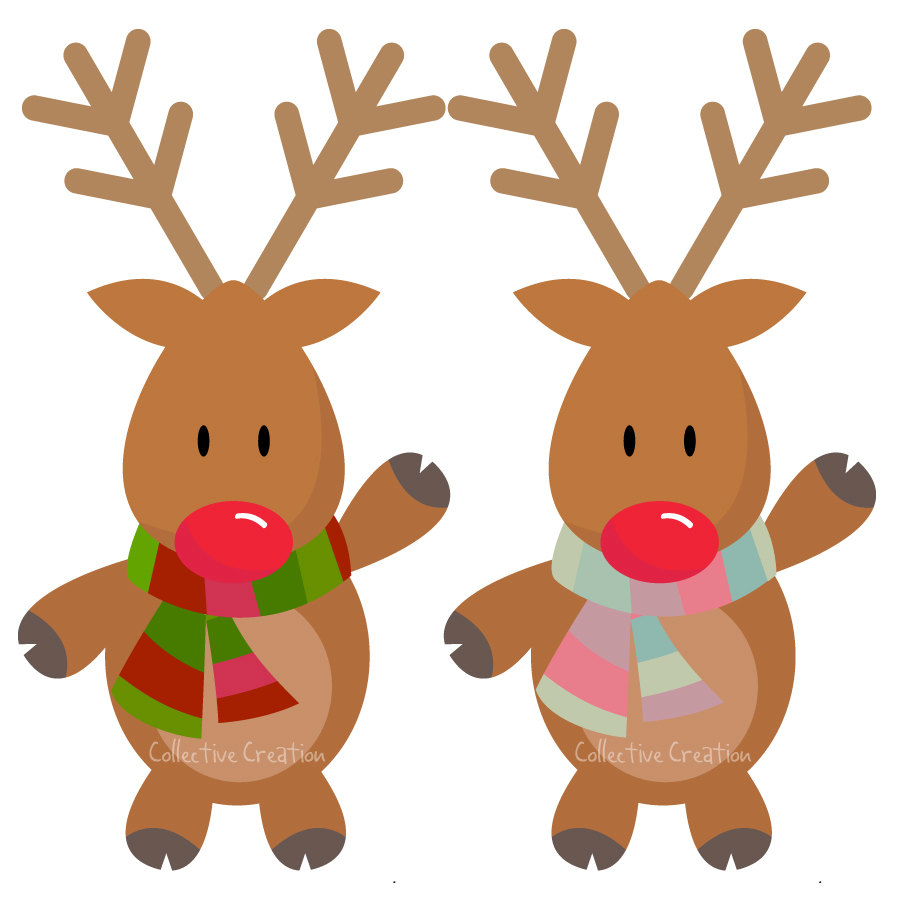 Christmas Reindeer Clipart .  - Rudolph The Red Nosed Reindeer Clipart