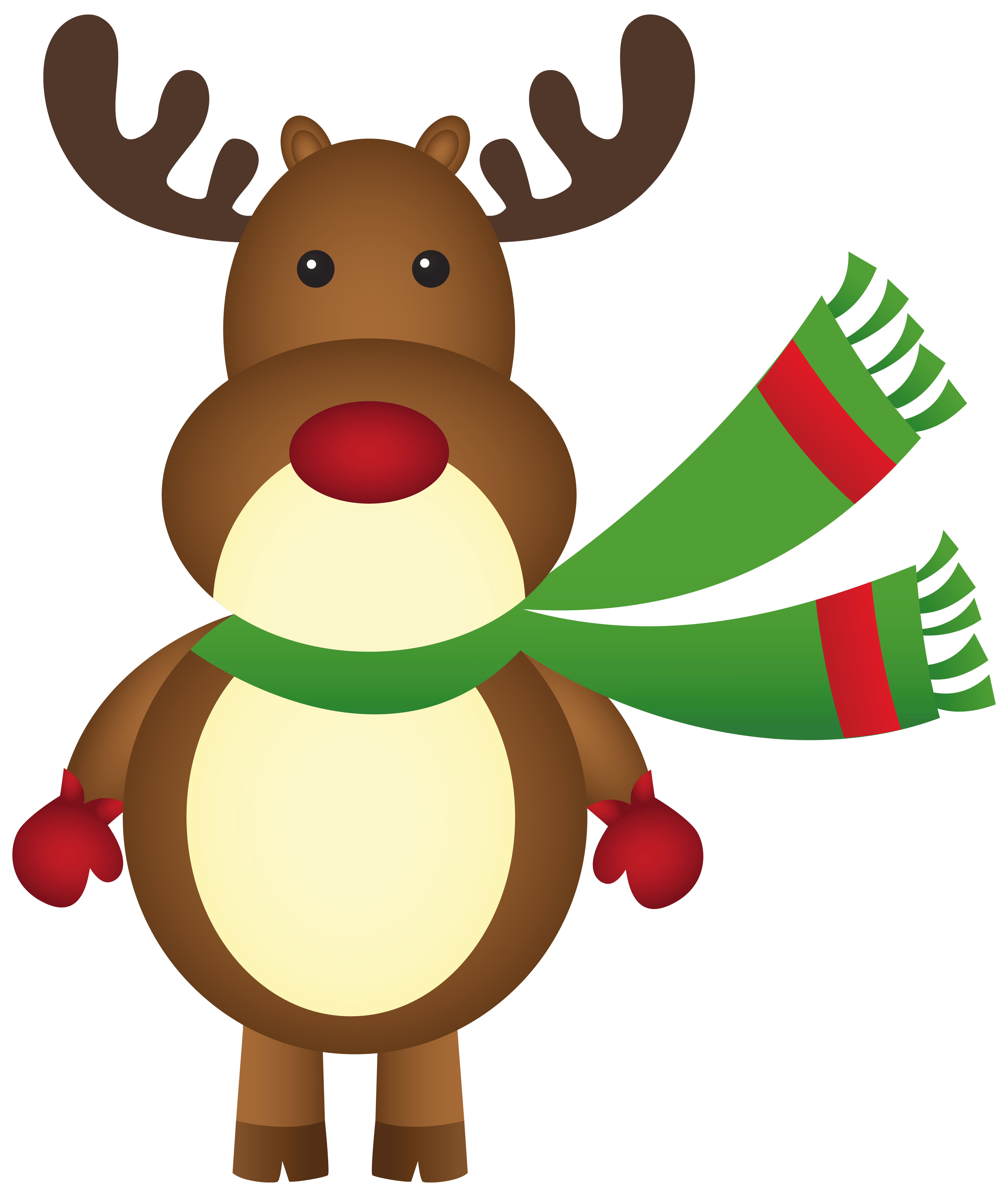 Christmas Rudolph With Scarf PNG Clipart-Christmas Rudolph with Scarf PNG Clipart Image-1