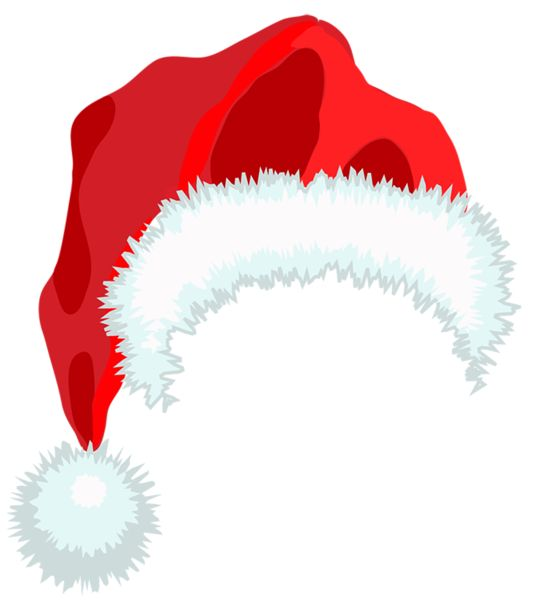 CHRISTMAS SANTA HAT CLIP ART