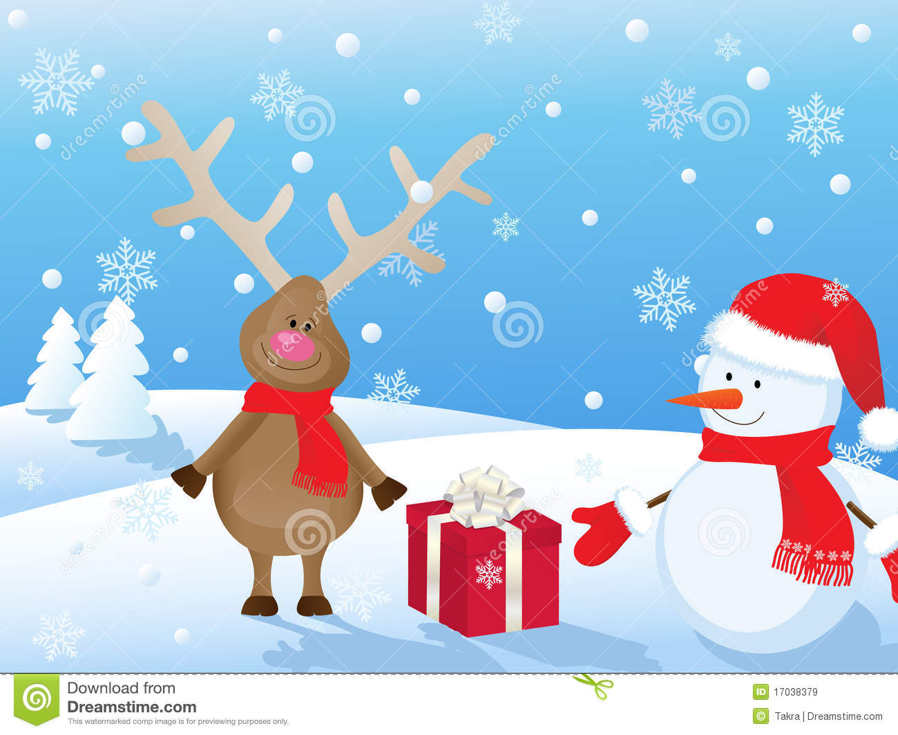 Christmas Scenes Clipart & Look At Clip