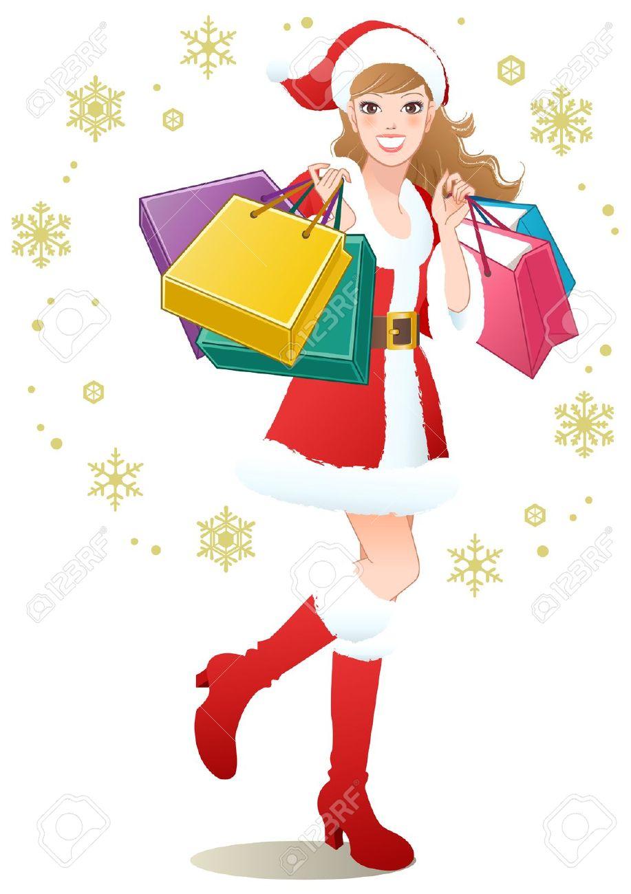 Christmas Shopping Clipart