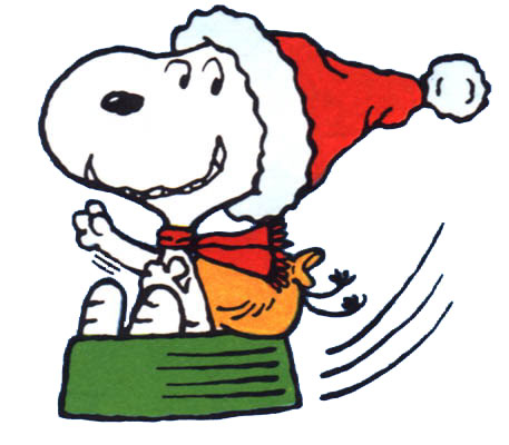Christmas snoopy clip art