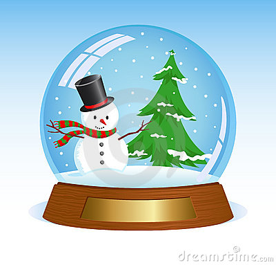 Christmas snow globe clipart - .