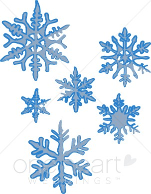 Christmas Snowflake Clipart - Clipart Of Snowflakes