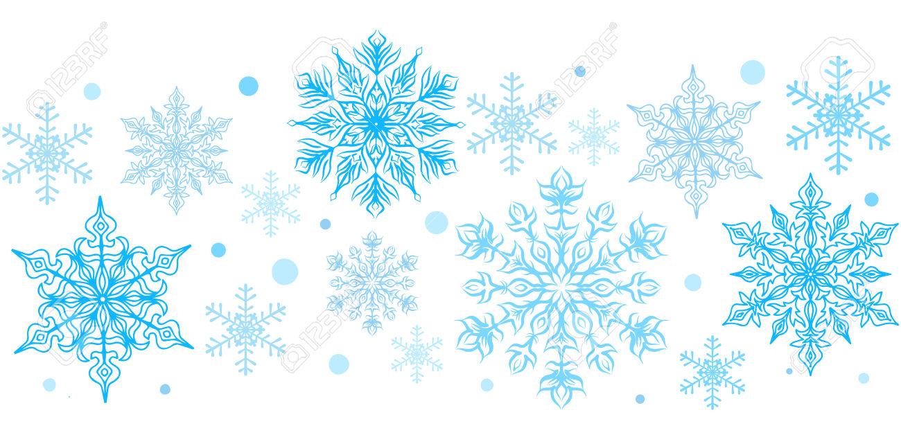 Snowflake border. Clipart clipartlook