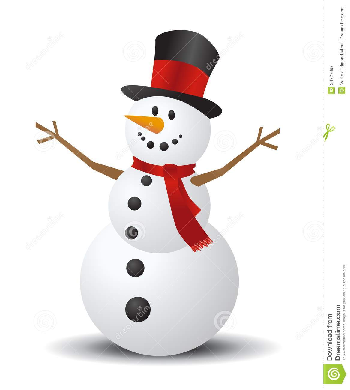 Christmas Snowman Royalty Free .