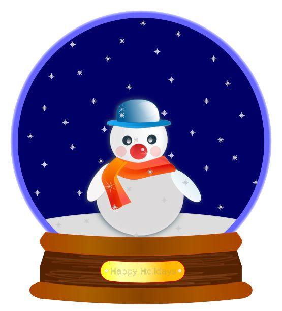 Christmas snowman snow globe .