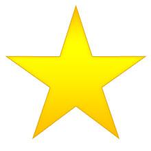 Christmas Star - five-point golden