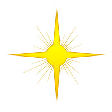 Christmas Star - Four-point gold