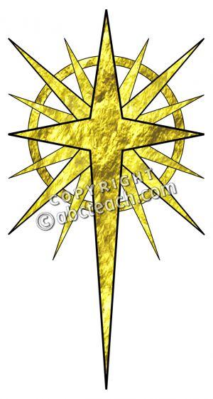 Christmas Star In Gold Clip Art Star Of Bethlehem Religious