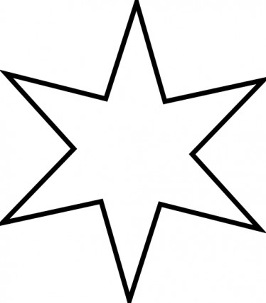 Christmas Star Outline Clipart .