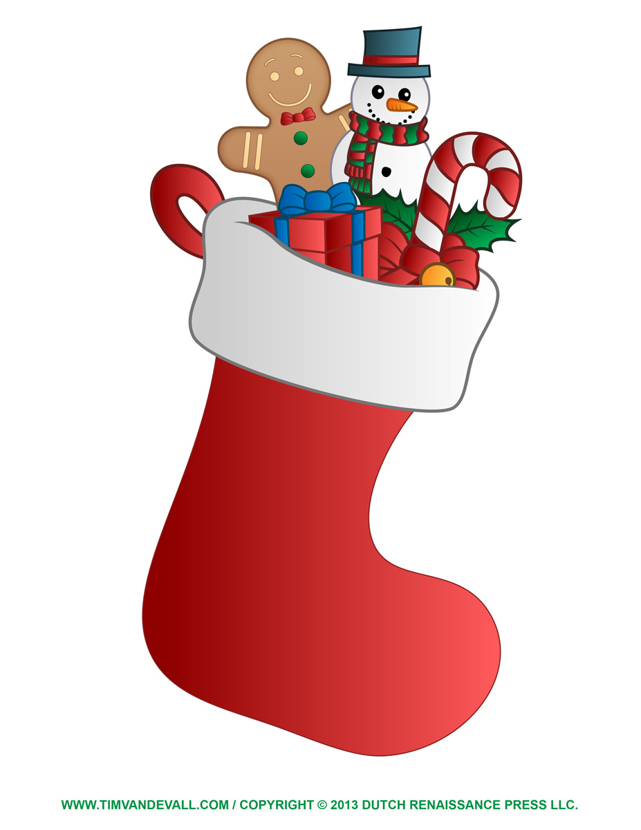 Christmas Stocking Clip Art .-Christmas Stocking Clip Art .-2