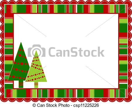 ... Christmas Stripped Frame - Christmas stripped patterned... Christmas Stripped Frame Clip Artby ...