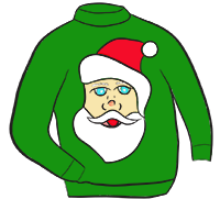 Christmas Sweater Clipart .