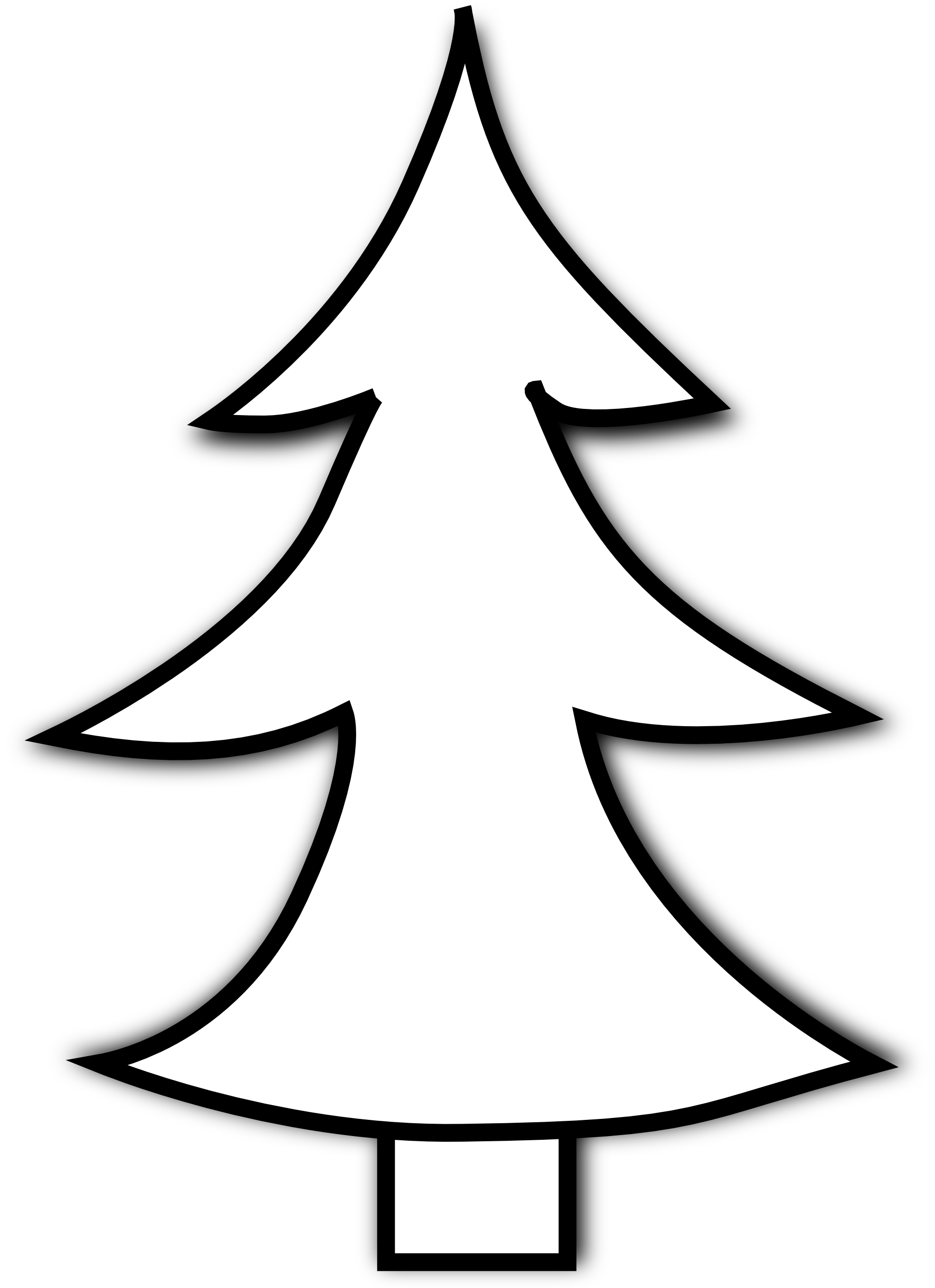 Christmas Tree Clip Art Black - Christmas Tree Clip Art Black And White