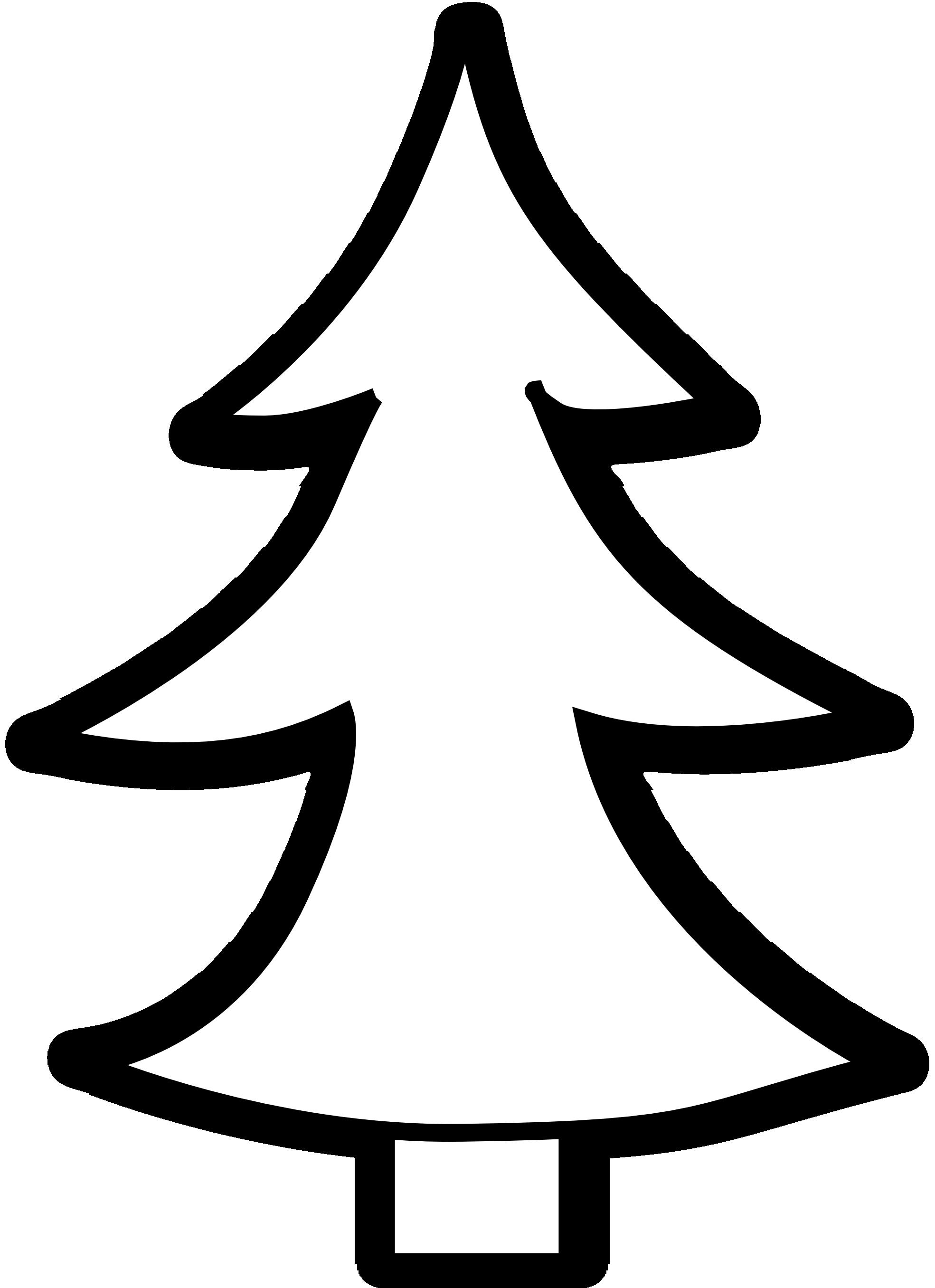Christmas Tree Clip Art Black ... black and white tree% .