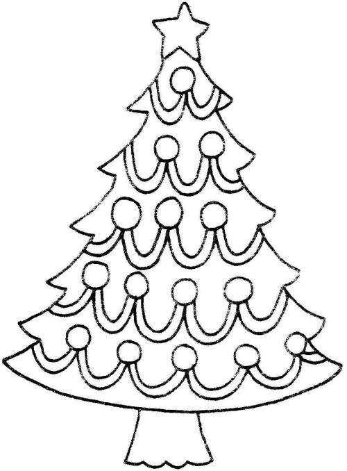 Christmas Tree Clip Art Black White Free Printable Christmas Tree