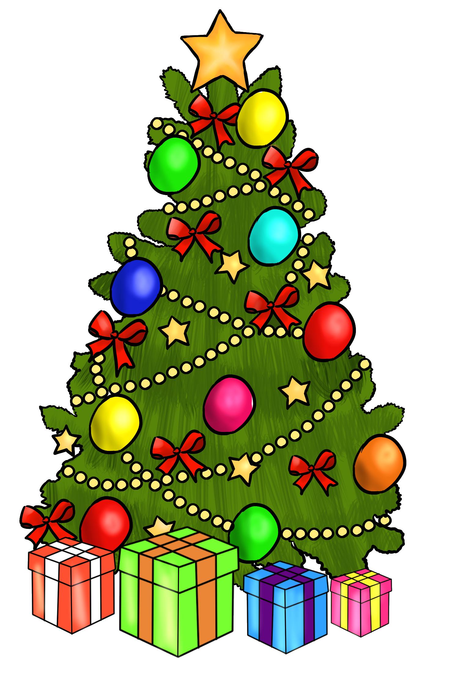 Christmas Tree Clip Art ..-Christmas Tree Clip Art ..-4
