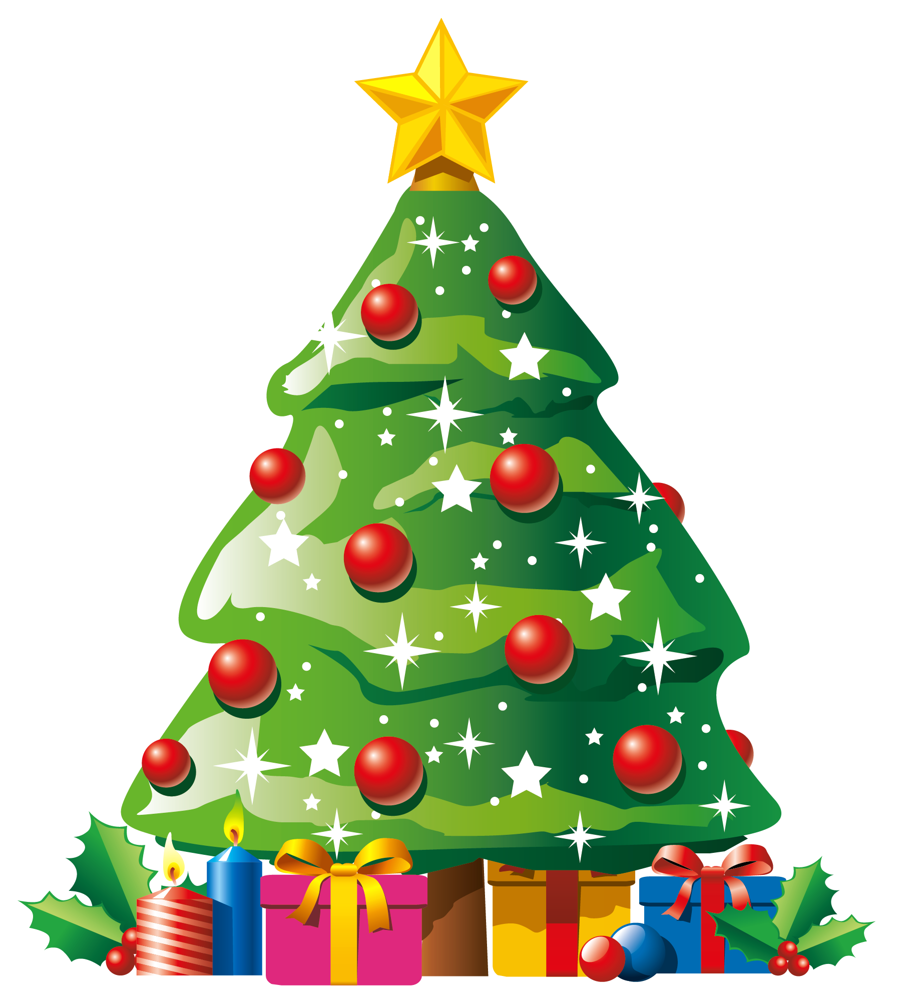 Christmas Tree Clip Art. Christmas tree with presents .