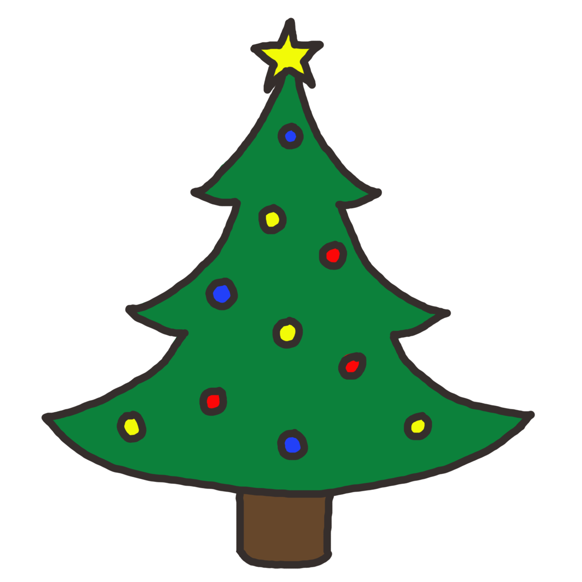 christmas star tree clip art