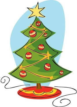 Christmas Tree Clip Art Vector-christmas tree clip art vector-6
