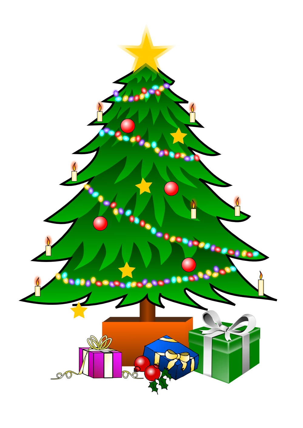 Christmas Tree Clip Art Watermark Clipart Panda Free Clipart