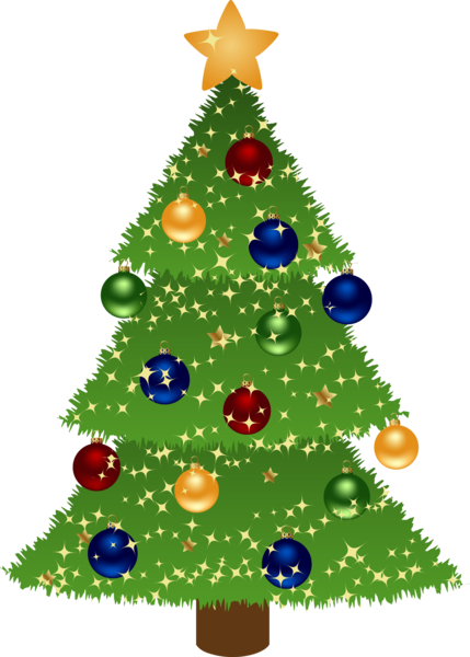 Christmas Tree Clip - clipartall