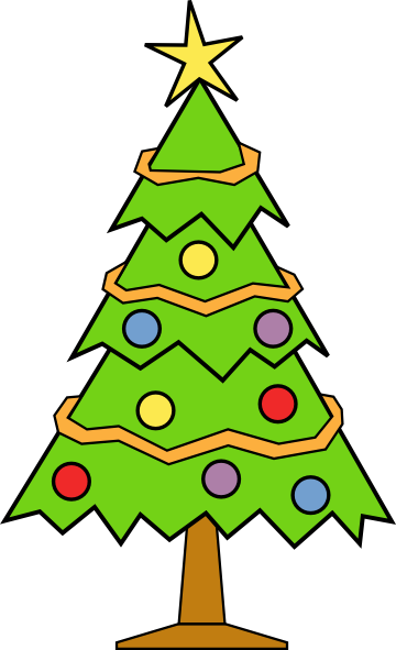 Christmas Tree Clipart 2 .