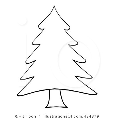 Christmas Tree Clipart Black And White Quotes